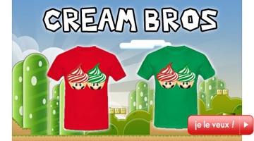 T-shirt Cream Bros