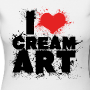 t shirt i love creamart splash cintre femme